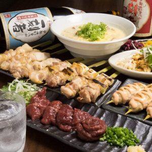 焼き鳥をはじめ人気の鶏料理が食べ放題で楽しめる池袋の居酒屋「とりいちず」のコース
